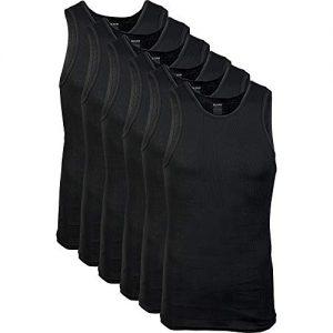 Gildan Mens A-Shirts Multipack, Black, 2X-Large